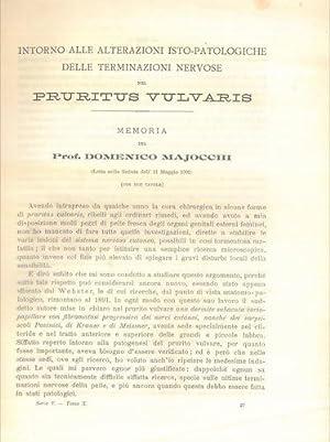Intorno alle alterazioni isto-patologiche delle terminazioni nervose: MAJOCCHI Domenico -