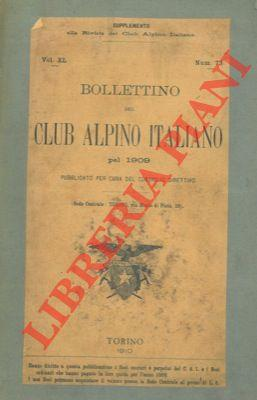 Bollettino del Club Alpino Italiano. Anno 1909. Vol. XL. n° 73.
