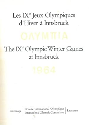 Les IXes Jeux Olympiques d'Hiver à Innsbruck. The IXth Olympic Winter Games at Innsbruck. 1964.