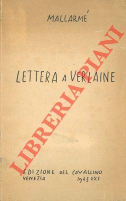 Lettera a Verlaine.: MALLARME' -