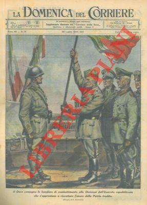 Il Duce consegna le bandiere di combattimento: BERTOLETTI G. -
