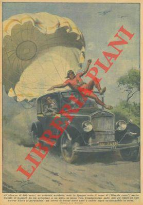 All'altezza di 800 metri, un aviatore acrobata: BELTRAME A. -