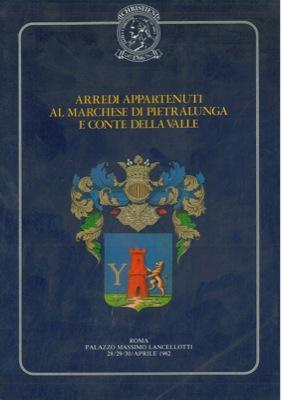 Arredi appartenuti al Marchese di Pietralunga e Conte della Valle che saranno venduti a Palazzo ...