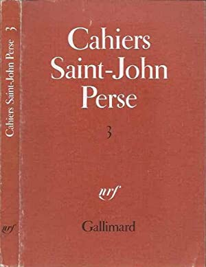 Cahiers Saint-John Perse - Tome 3
