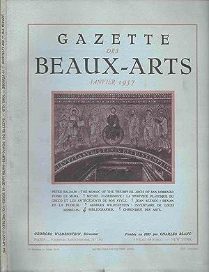 Gazette des Beaux Arts - Année 1957: Collectif