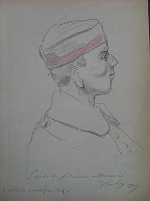 """ÉTUDES DE BOCHES - VERDUN 1917. 16 dessins de Marcel Louveau-Rouveyre [16 """"Étude..."""