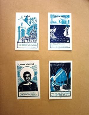 Ensemble de 73 vignettes illustrées par Roger JOSEPH [Santo Marto, Santo Vierge, Li Santo, Sant ...