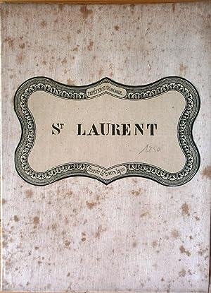 CARTE topographique du canton de St LAURENT DE CHAMOUSSET, arrondissement de Lyon, département du ...