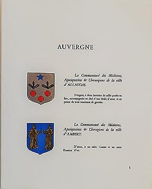 LES BLASONS DES COMMUNAUTÉS D'APOTHICAIRES AU XVIIe SIÈCLE. D'après ...