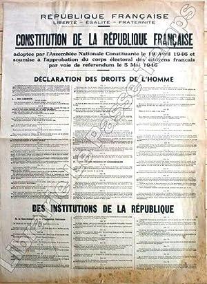 République Française - Liberté, Égalité, Fraternité -: Constitution 1946.