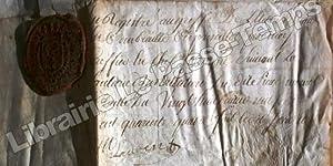 P. S. / Pièce signée / Parchemin // NOMINATION À L'OFFICE DE CONSEILLER DU ROI Eleu en l'...