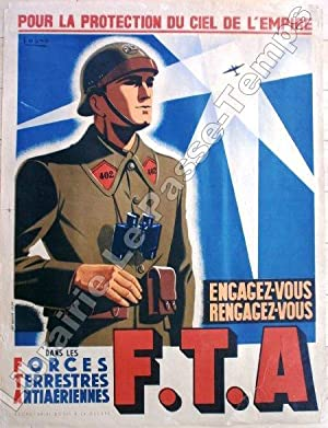 Affiche / Secrétariat d'État à la Guerre - Forces Terrestres Antia&...
