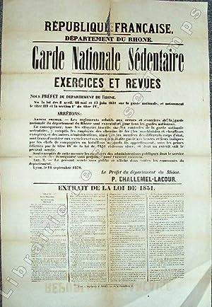 République Française - Département du Rhône. GARDE NATIONALE SÉ...