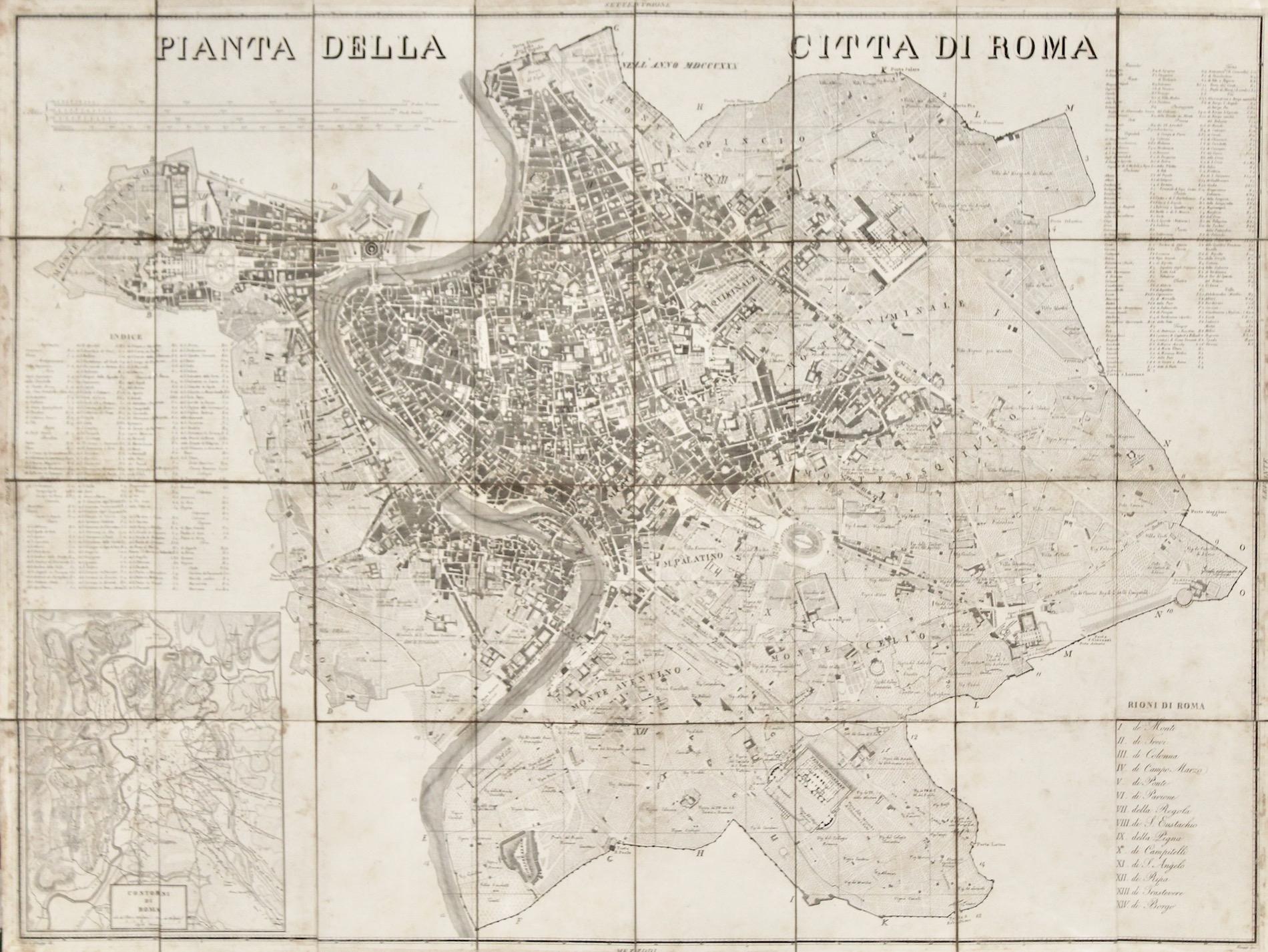 Pianta della citt? di Roma nellíanno 1830.: STIER.