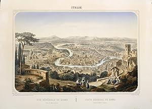 Vue gÈnÈrale de Rome prise du Mont: DEROY ISIDORE LAURENT
