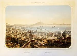 Naples vue prise au-dessus de St. Francois: DEROY ISIDORE LAURENT