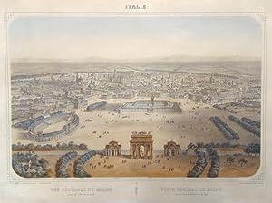 Vue gÈnÈrale de Milan prise de l'arc: DEROY ISIDORE LAURENT