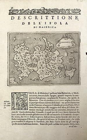 Descrittione dell'isola di Maiorica.: PORCACCHI TOMMASO.