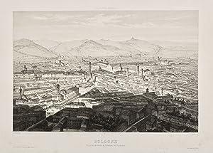 Bologne, vue prise au-dessus de l'AccadÈmie des: GUESDON ALFRED.