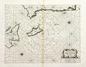 Carta marittima della parte meridionale della Cefalonia: CORONELLI VINCENZO MARIA/LEVANTO