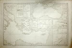 Carte gÈnÈrale de la mer MËditerranÈe. 1Ëre: DAUSSY M./KELLER W./DEPOT