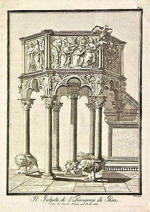 Il pulpito di S. Giovanni di Pisa.: FAMBRINI Ferdinando.