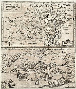 Abriss des Hertzogthums Mantoua nit den umbligenden Landschaften. 1630 - Abriss der Statt Matoua ...