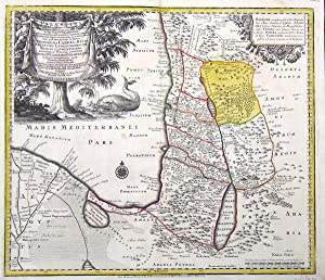 Palaestina seu Terra a Mose et Iosua occupata et inter Iudaeos distribute per XII tribus, vulgo ...