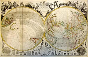 A New and Correct Map of the World Projected upon the Plane of the Horizon laid down from the New...