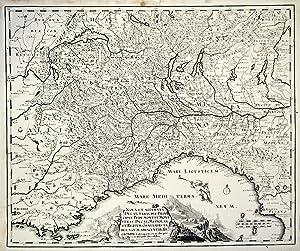 Nova et accurata Ducat., Sabaudiae, Principat. Pedemont. et Montferat., Ducatus Mediolan. et Reipub...