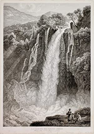 La cascata del Velino a Terni.: GMELIN W. F.