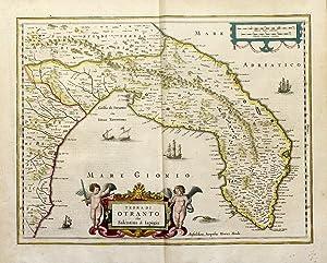Terra di Otranto olim Salentina & Iapigia: HONDIUS HENRICUS