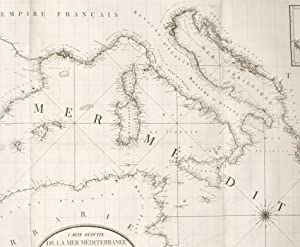 Carte rÈduite de la mer MÈditerranÈe et: RIZZI ZANNONI GIOVANNI