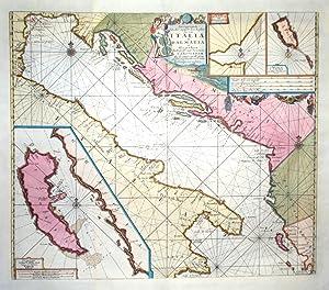 Pas kaart van de Weder zytsche Zee-kusten: VAN KEULEN IOHANNES.