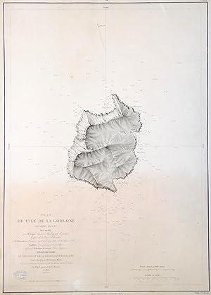 Plan de l'Ile de la Gorgone.: DEPOT DE LA MARINE.