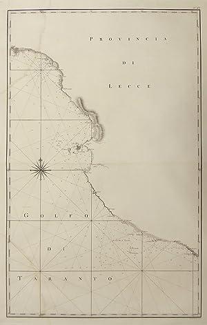 Carta nautica della costa presso Gallipoli.: RIZZI ZANNONI GIOVANNI ANTONIO.