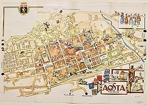 Aosta. Pianta della citt?.: CIGHERI ALDO
