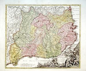 Principatus Cataloniae nec non Comitatuum Ruscinonensis Et Cerretaniae Nova Tabula . . .: HOMANN ...