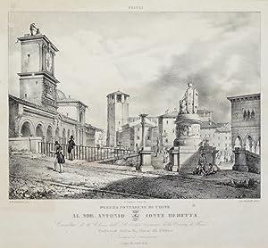 Piazza Contarena di Udine (Al nob. Antonio conte Beretta).: BERLETTI LUIGI