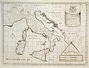 A new map of present Italy togetherÖ.: WELLS EDWARD.