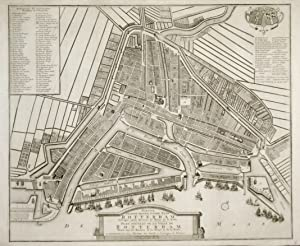 Plan nouveau de la ville de Rotterdam.: DE LETH HENRY-COVENS JEAN & FIGLI.
