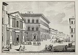 Veduta della piazza, e chiesa di S.: ZOCCHI GIUSEPPE.