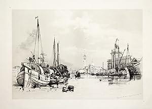 Dogana & S. Maria Maggiore, Venice, Sep.1834.: HARDING JAMES DUFFIELD.