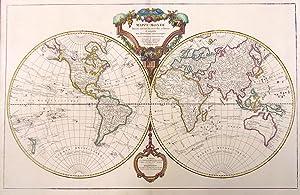 Mappe-monde dressÈe suivant les nouvelles relations et assujettie aux observations ...