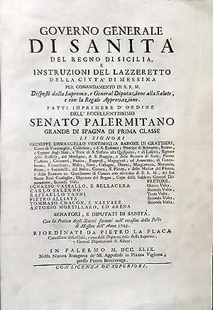 Governo generale di Sanit? del Regno di Sicilia e instruzioni del lazzeretto della citt? di Messina...