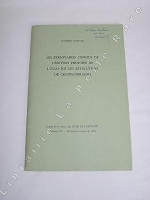 Les exemplaires connus de l'edition princeps de L'essai sur les révolutions de ...