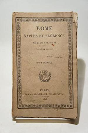 Rome, Naples et Florence. Tome 1.: STENDHAL