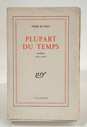 Plupart du temps. Poèmes 1915-1922.: REVERDY (Pierre)