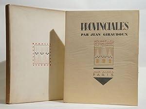Provinciales. Aquarelles de G. Gallibert.: GALLIBERT, GIRAUDOUX (Jean)