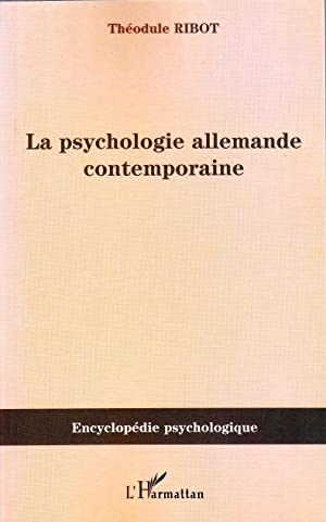 La psychologie allemande contemporaine.